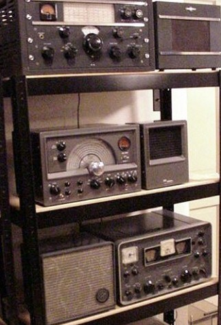 Three Communications Receivers and Speakers
