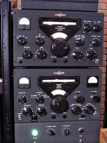 Collins KWS-1 transmitter and 75A-4 receiver