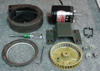 Disassembled Blower
